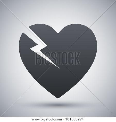 Vector Break Heart Icon