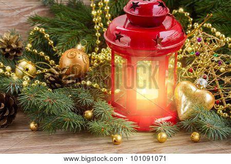 red glowing lantern