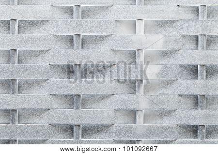 Metal Wicker Fence Made Of Steel Strips