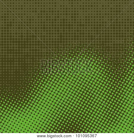 Abstract grunge background with splats and halftone effect.