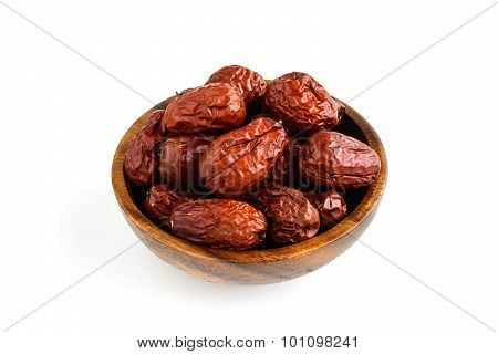 Dried Jujube Fruits Isolated On White