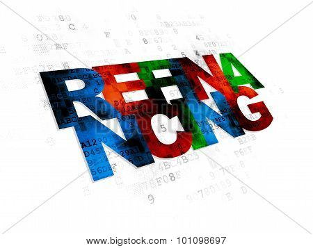 Finance concept: Refinancing on Digital background
