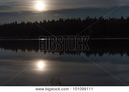 Moon Lake Forest Reflection
