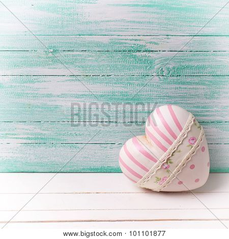 Decorative Heart On Wooden Background