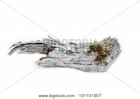 Wood Is Very Old On White Background