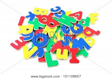 Magnetic Plastic Letters Isolated On White
