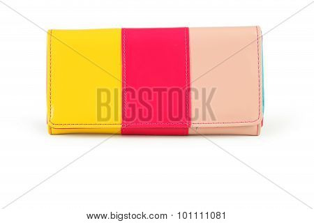 Colorful Purse Isolated On White