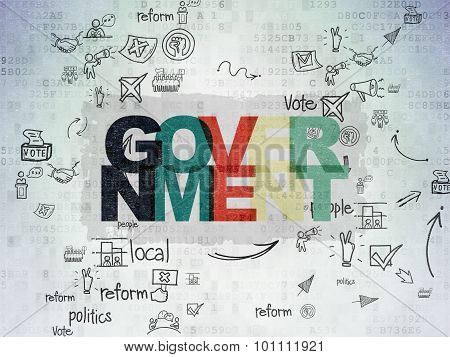 Politics concept: Government on Digital Paper background