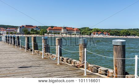 View of the beach in Sopot