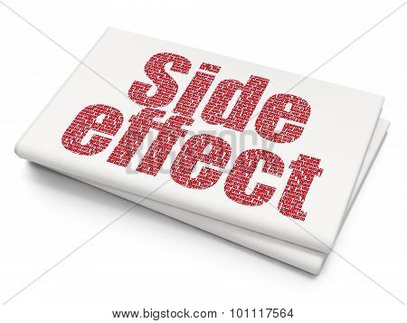 Health concept: Side Effect on Blank Newspaper background