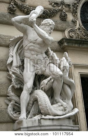 Hercules Fighting The Hydra, Hofburg Palace, Vienna, Austria