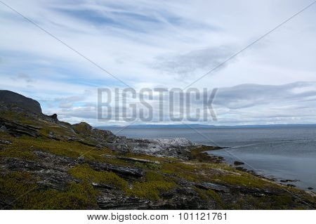Coast At The Porsangerfjord, Norway