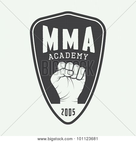 Vintage Mixed Martial Arts Logo, Badge Or Emblems.