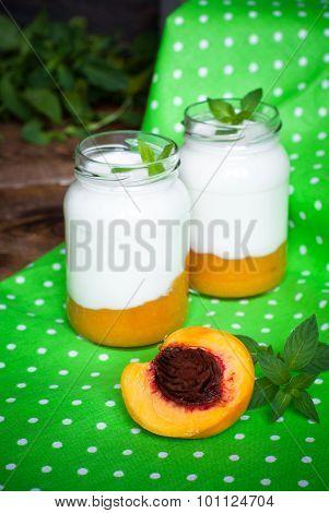 Yogurt With Peach Jam