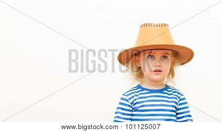 Happy Child On A White Background