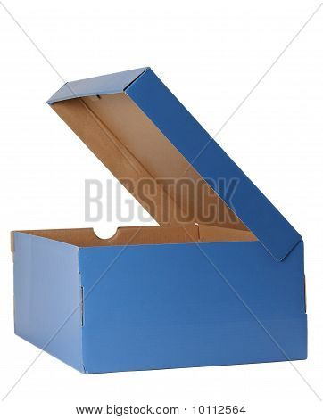 Shoe Box With Opened Cover