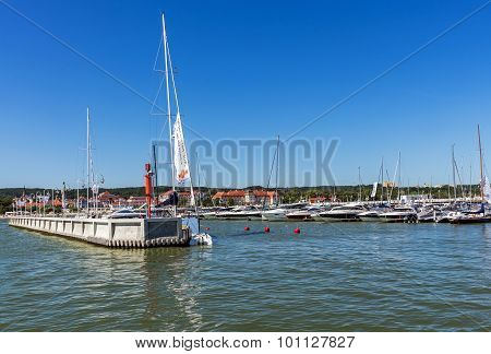 Scenes from the Sopot Marina.