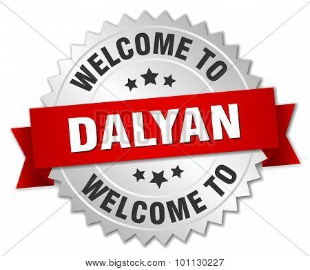 Dalyan 3D Silver Badge With Red Ribbon