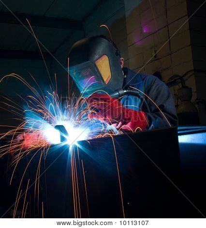 Welder With Copy Space