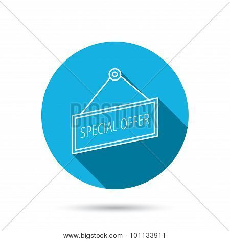 Special offer icon. Advertising banner tag sign.