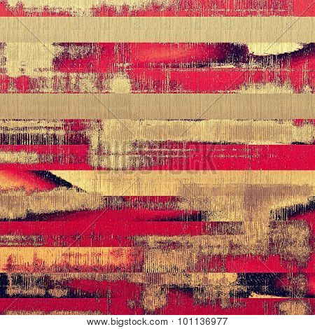 Art vintage background with space for text and different color patterns: yellow (beige); brown; red (orange); pink