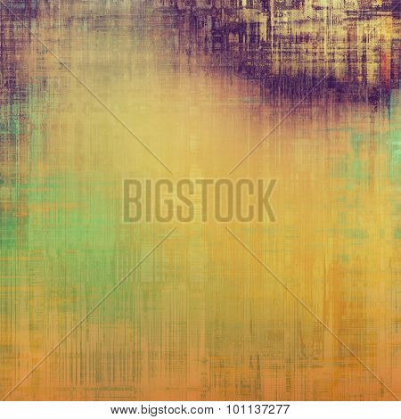 Abstract old background or faded grunge texture. With different color patterns: yellow (beige); brown; purple (violet); green
