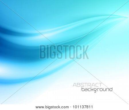 Beautiful Blue Satin. Drapery Background