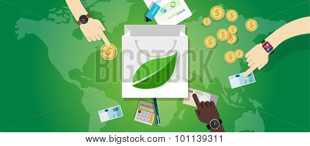 bag shopping guilt free green friendly consumption buy eco environment concept