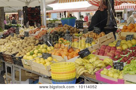 Vegetable Market At Nice. France