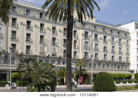 Hotel On Seafront At Nice. France