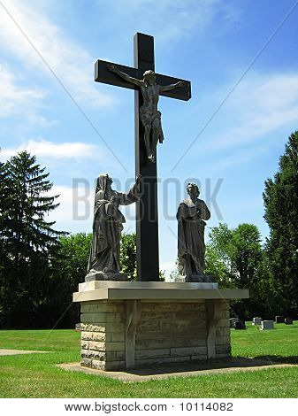 Statue Of Jesus Christ And The Cross