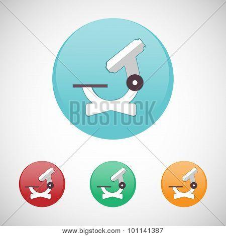 Microscope Vector Icon Set.