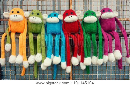Handmade, Monkey, Happy New Year 2016, Funny Animal