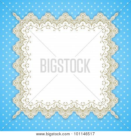 Retro Square Lace Frame