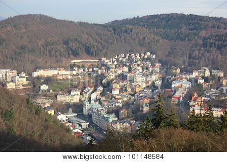 the view from the height of Karlovy vary