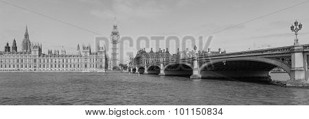 Black And White View Of London