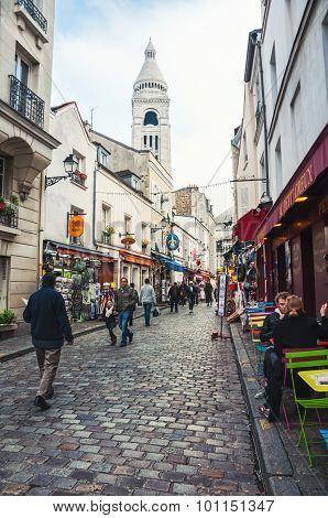 Streets Of Montmartre In Paris