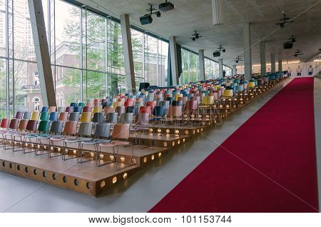 Rotterdam, Netherlands - May 9, 2015: Auditorium Of Kunsthal Museum In Rotterdam