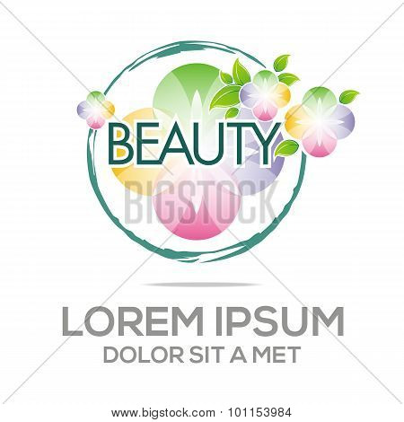 Logo Abstract Beauty Flower