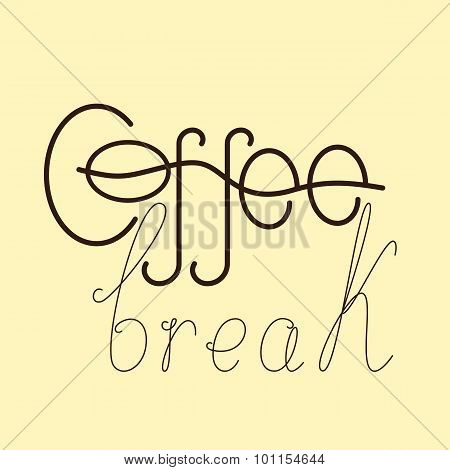 Coffee Break Lettering