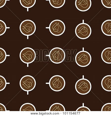 Pattern With Cups Of Coffee