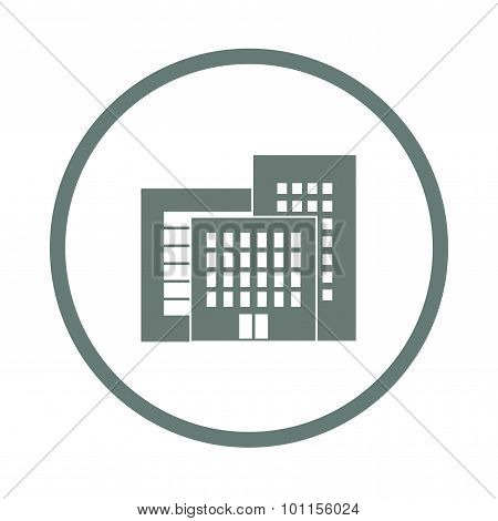 Flat Design Of Business City Architecture, Commercial Building And Major Business Facilities, Major