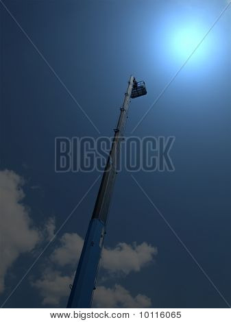 Magic Light, High Long Industrial Crane Arm