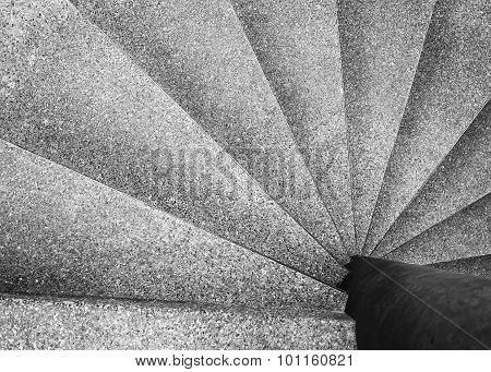 Spiral Staircase Architecture Details Black And White