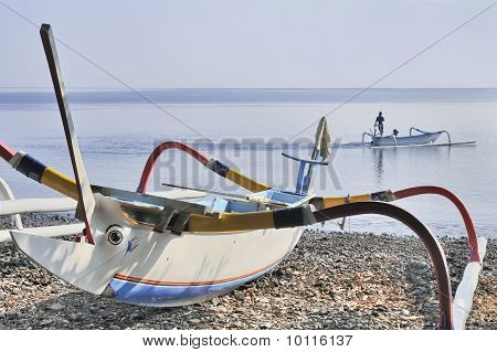 Traditional Balinese fishing boat
