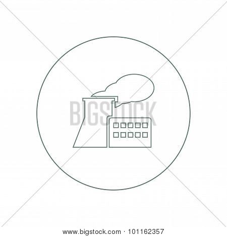 Manufacturing Plant And Factory Icon. Stock Illustration Flat Design Icon..