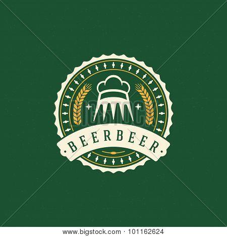 Beer Logo Design Element In Vintage Style