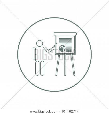 Presentation Concept Icon. Business Presentation Concept Icon.
