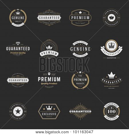 Retro Vintage Premium Quality Labels Set