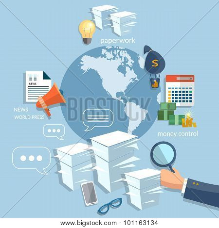 Global Business Startup Training Concept